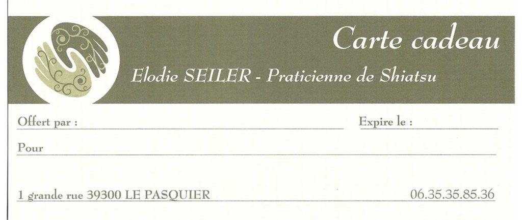 Carte Cadeau - Elodie Seiler